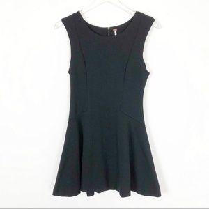 Free People Little Black Mini Dress Back Zip Sz S